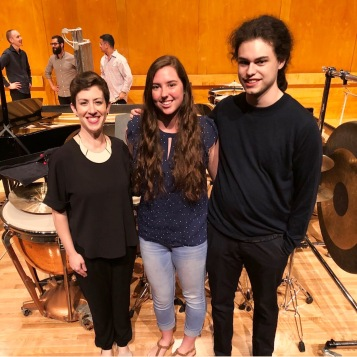 Premiere of The Silent Majority (Laura Barger, piano; William Heintz, percussion)