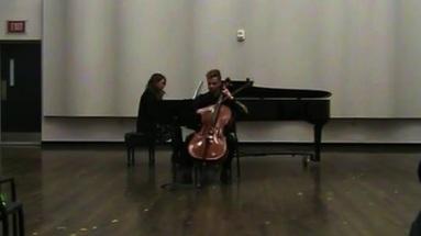 Premiere of Sunshower (Graham Drennan, cello; Hannah Bossier, piano)